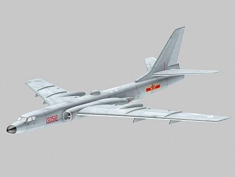 中国轰-6K轰炸机模型下载