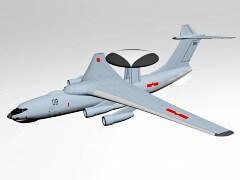 国产空警500预警机三维模型下载