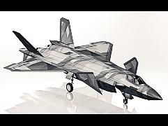 国产歼20战斗机三维模型