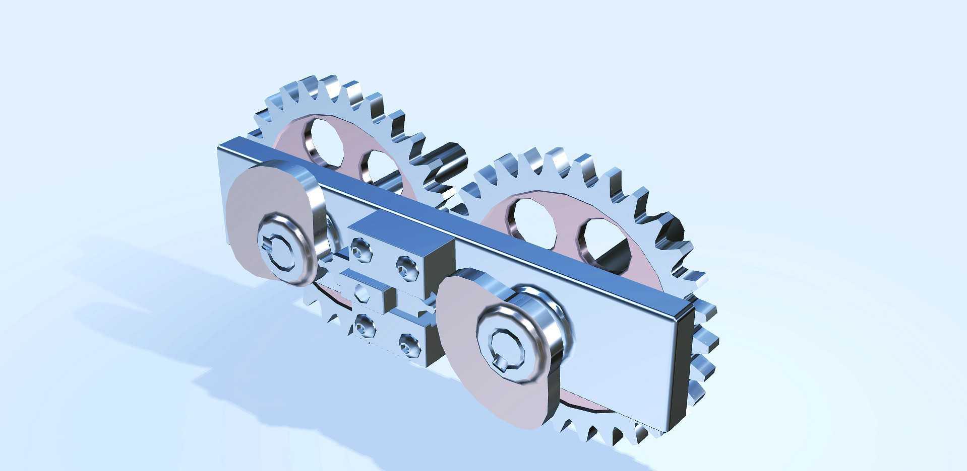 往复式凸轮结构机构交互式动动画