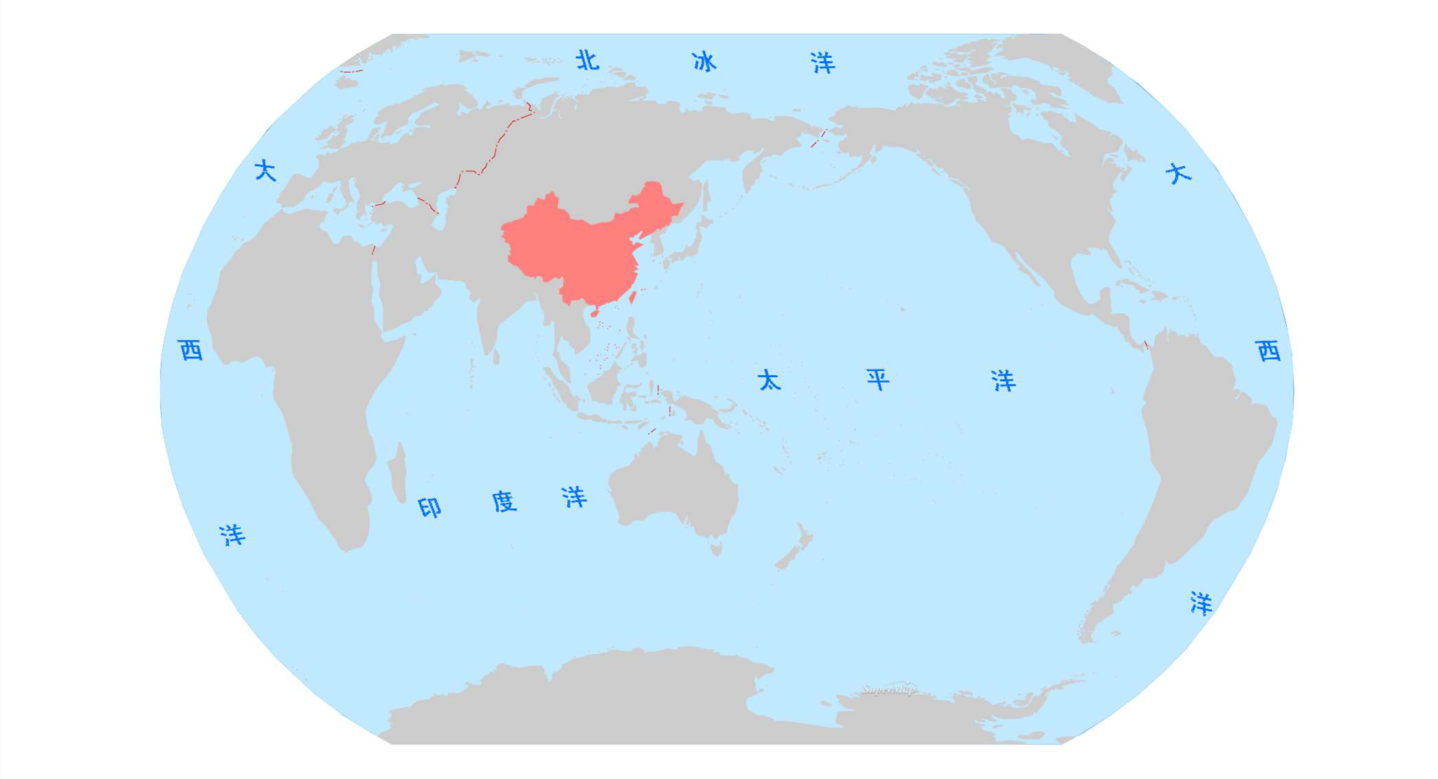 四大洋名称和地理位置